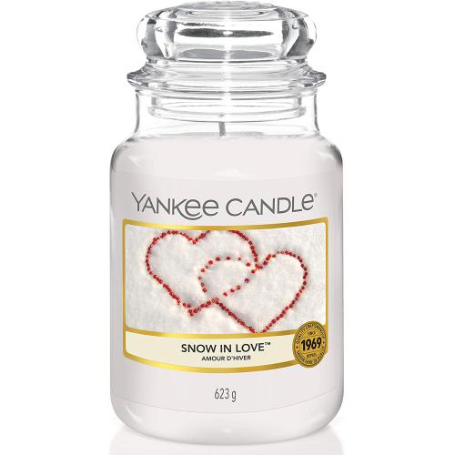 Yankee Candle - Bougie Grand Modèle Snow In Love/ L'amour D'hiver - Ambiance de Noël